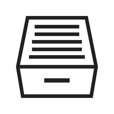 filing document: Files, drawer, office icon vector image.Can also be used for office. Suitable for mobile apps, web apps and print media.