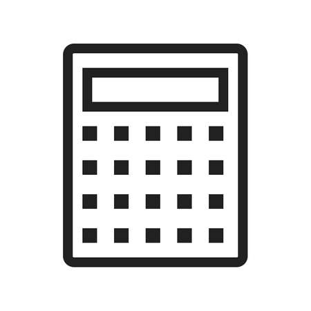 calculating: Calculator, mathematics, divide icon vector image.Can also be used for office. Suitable for web apps, mobile apps and print media.