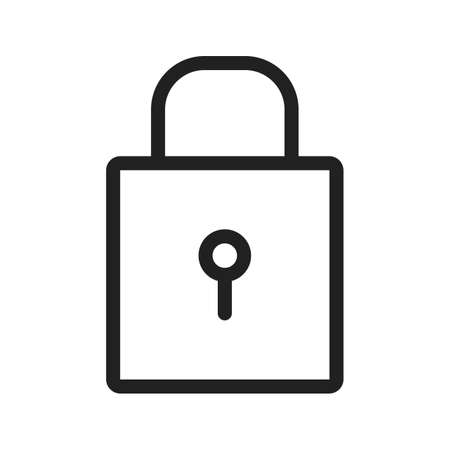 protect icon: Lock, security, protect icon vector image.Can also be used for office. Suitable for mobile apps, web apps and print media. Illustration