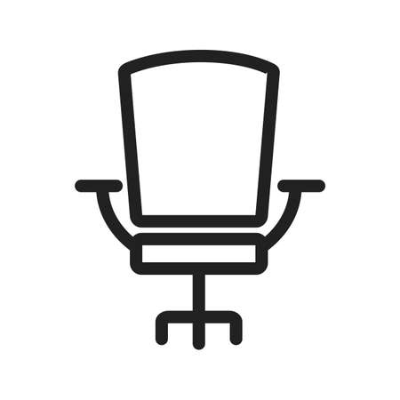 revolving: Chair, office, seat icon vector image.Can also be used for office. Suitable for mobile apps, web apps and print media. Illustration