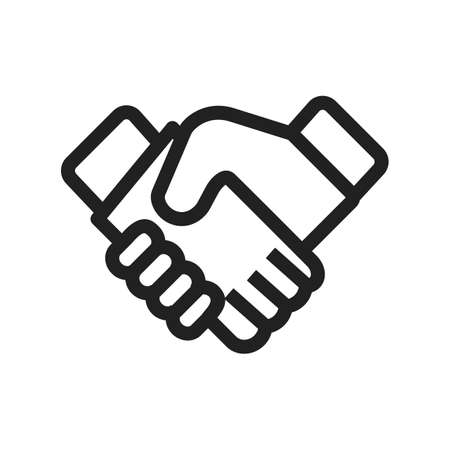 business partner: Business, handshake, trust icon vector image. Can also be used for office. Suitable for use on web apps, mobile apps and print media.