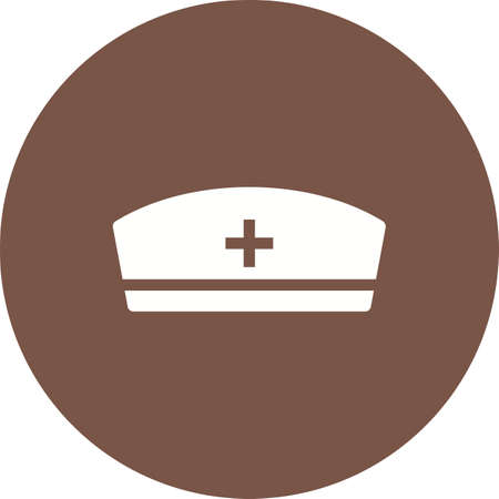 enfermera con cofia: Enfermera, gorra, la imagen de la salud del icono del vector. También se puede utilizar para la salud y la ciencia. Adecuado para su uso en aplicaciones web, aplicaciones móviles y material de impresión.