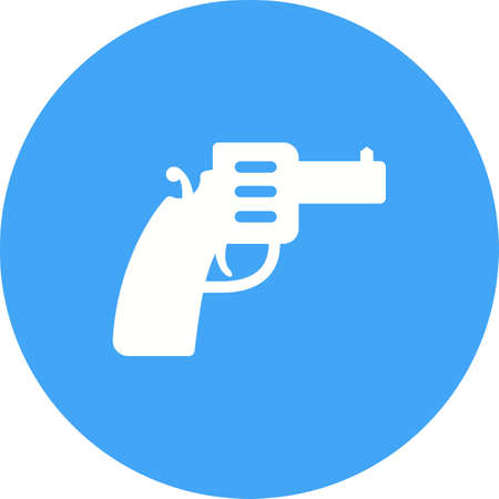 use pistol: Gun, pistol, handgun icon vector image. Can also be used for objects. Suitable for use on web apps, mobile apps and print media. Illustration