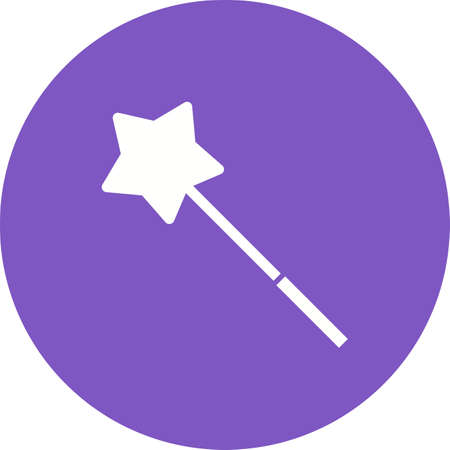 miraculous: Magic, wand, magician icon vector image. Can also be used for objects. Suitable for web apps, mobile apps and print media.