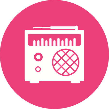 tuner: Radio, speaker, tuner icon vector image. Can also be used for objects. Suitable for web apps, mobile apps and print media.