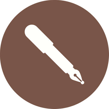 pen and paper: Pen, fountain, ink icon vector image. Can also be used for objects. Suitable for web apps, mobile apps and print media.