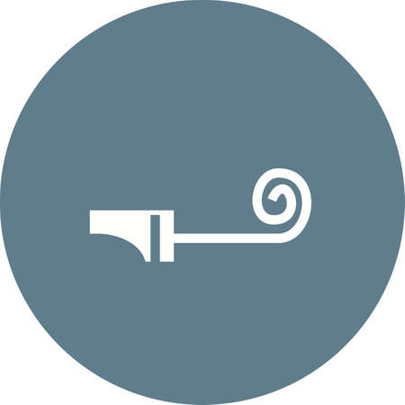 party horn blower: Party, whistle, blower icon vector image. Can also be used for party. Suitable for web apps, mobile apps and print media.