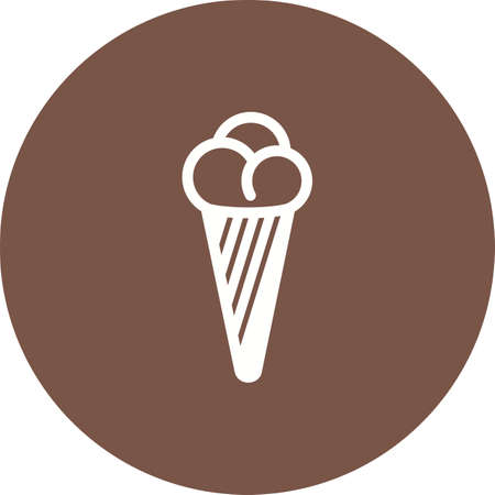 refreshment: Cone, icecream, refreshment icon vector image. Can also be used for party. Suitable for use on web apps, mobile apps and print media Illustration