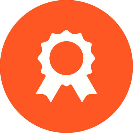 deisgn: Badge, award, party icon vector image. Can also be used for party. Suitable for use on web apps, mobile apps and print media.