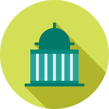 congress: Government, speaker, congress icon vector image.Can also be used for building and landmarks . Suitable for mobile apps, web apps and print media. Illustration