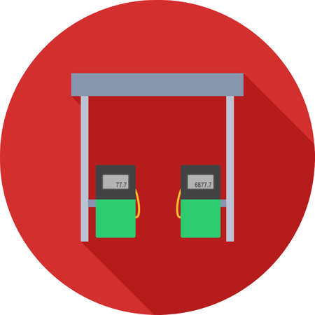 fueling pump: Station, gas, fuel icon vector image.Can also be used for building and landmarks . Suitable for mobile apps, web apps and print media.