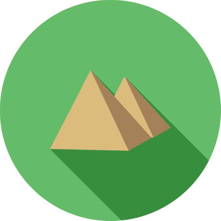 cairo: Pyramid, egyptian, cairo icon vector image.Can also be used for building and landmarks . Suitable for mobile apps, web apps and print media. Illustration