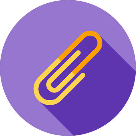paper clips: Clip, paper, clips icon vector image. Illustration