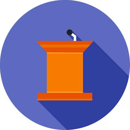 public speaker: Podium, public, speaker icon vector image.