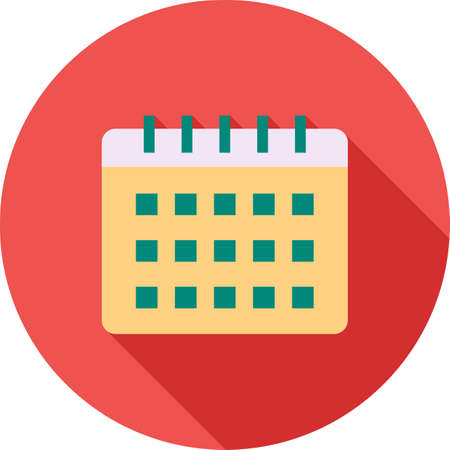 event planner: Calendar, event, year icon vector image. Can also be used for office. Suitable for use on web apps, mobile apps and print media. Stock Photo