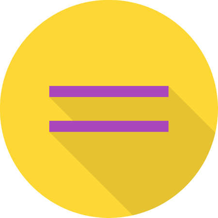 sign equals: Sign, equal, equality icon vector image.Can also be used for education and science. Suitable for mobile apps, web apps and print media. Stock Photo