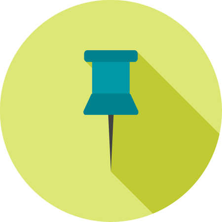 affix: Pin, thumbtack, clip icon vector image. Can also be used for office. Suitable for use on web apps, mobile apps and print media. Illustration