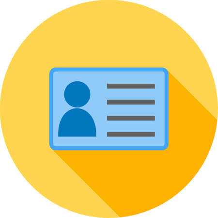 authorization: Identity card, information, account icon vector image.Can also be used for office. Suitable for web apps, mobile apps and print media.