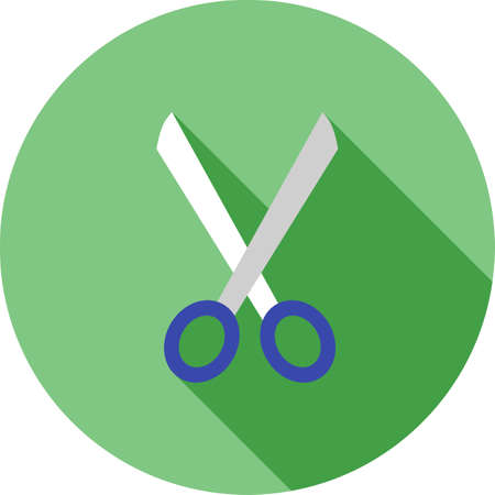 inauguration: Scissors, inauguration, office icon vector image. Can also be used for office. Suitable for use on web apps, mobile apps and print media.
