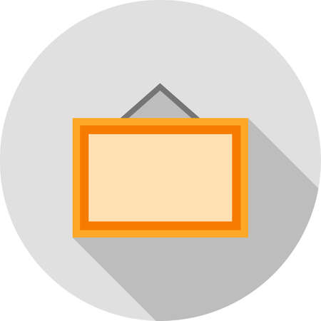 noticeboard: Noticeboard, hoarding, board icon vector image. Can also be used for office. Suitable for use on web apps, mobile apps and print media.
