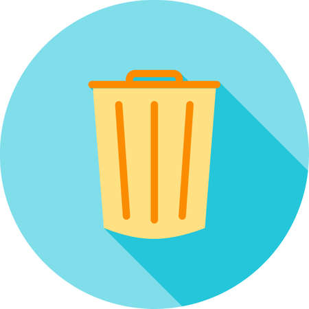 dustbin: Dustbin, clean, office icon vector image. Can also be used for office. Suitable for use on web apps, mobile apps and print media.