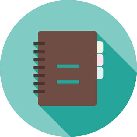 diary book: Notebook, diary, book icon vector image.Can also be used for office. Suitable for mobile apps, web apps and print media.