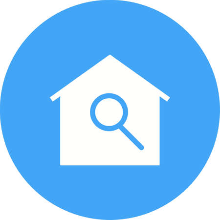 residential neighborhood: Search, agent, house icon vector image.Can also be used for housing. Suitable for mobile apps, web apps and print media.