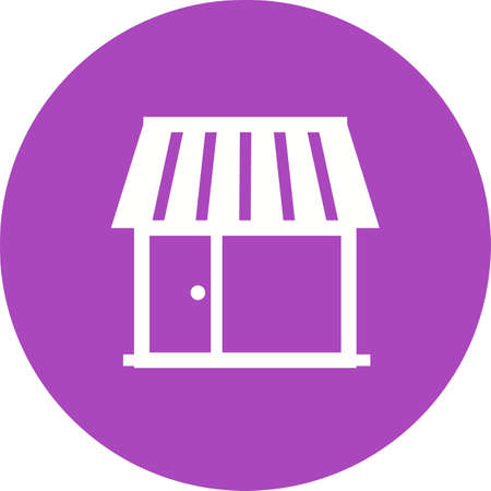 media center: Shop, center, building icon vector image.Can also be used for housing. Suitable for mobile apps, web apps and print media.