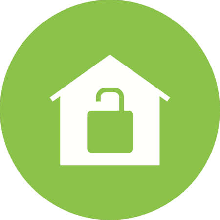 room access: Unlock, house, keys icon vector image.Can also be used for housing. Suitable for mobile apps, web apps and print media.