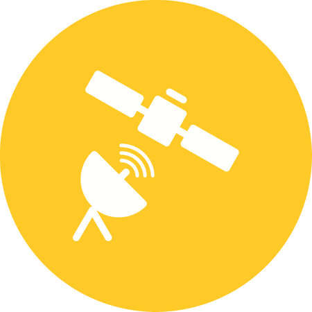 space station: Satellite, space, station icon vector image. Can also be used for IT and communication. Suitable for use on web apps, mobile apps and print media.