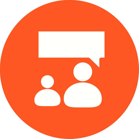 representative: Talking, people, representative icon vector image. Can also be used for IT and communication. Suitable for web apps, mobile apps and print media. Illustration