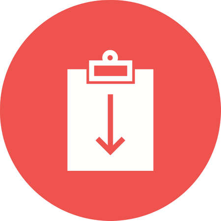 incomplete: Assignment, deadline, incomplete icon vector image. Can also be used for material design. Suitable for use on web apps, mobile apps and print media.