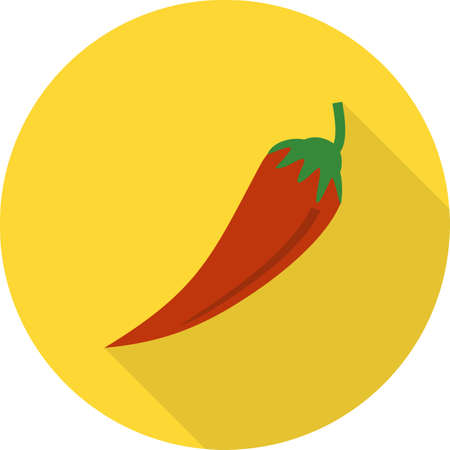 iconset: Chilli, pepper, red icon vector image.Can also be used for food iconset. Suitable for mobile apps, web apps and print media.