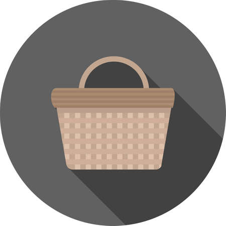vegetable basket: Basket, vegetables, vegetable icon vector image. Can also be used for food iconset. Suitable for use on web apps, mobile apps and print media.