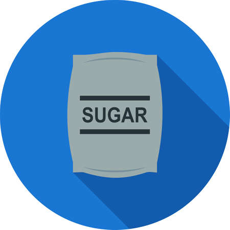 iconset: Sugar, bag, white icon vector image. Can also be used for food iconset. Suitable for use on web apps, mobile apps and print media.