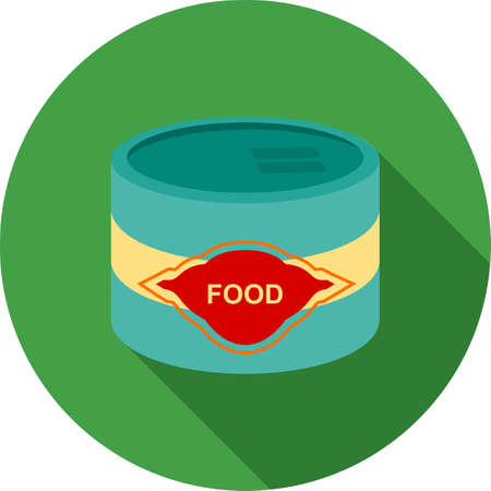 can food: Can, food, canned icon vector image. Can also be used for food iconset. Suitable for use on web apps, mobile apps and print media.