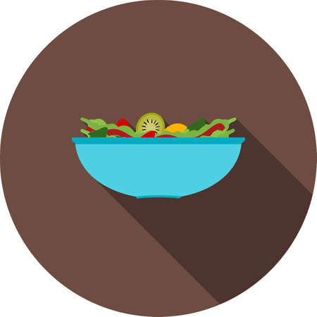 iconset: Salad, bowl, fresh icon vector image. Can also be used for food iconset. Suitable for use on web apps, mobile apps and print media.