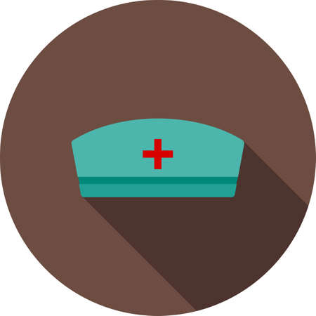nurse cap: Nurse, cap, healthcare icon vector image. Can also be used for healthcare and science. Suitable for use on web apps, mobile apps and print media. Illustration