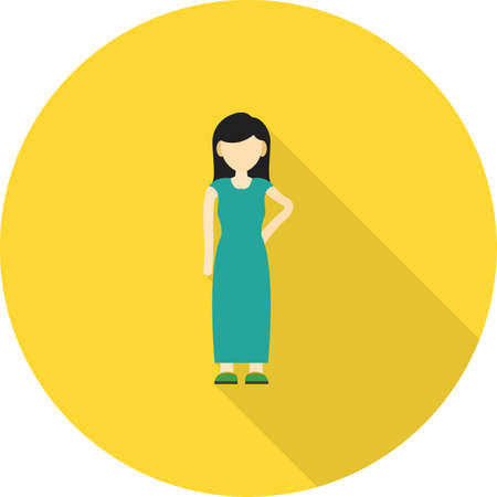 practitioners: Patient, doctor, female icon vector image. Can also be used for healthcare and science. Suitable for use on web apps, mobile apps and print media.