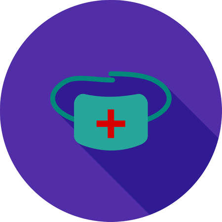 surgeon mask: Surgeon, doctor, mask icon vector image. Can also be used for healthcare and science. Suitable for use on web apps, mobile apps and print media.
