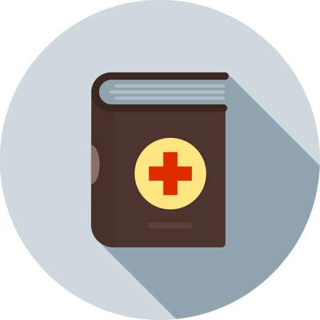historia clinica: M�dico, libro, expediente icono de imagen vectorial. Tambi�n puede ser utilizado para la asistencia sanitaria y la ciencia. Adecuado para su uso en aplicaciones web, aplicaciones m�viles y material de impresi�n. Vectores