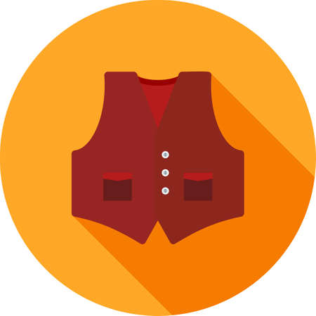 waistcoat: Vest, clothing, wear icon vector image. Can also be used for objects. Suitable for web apps, mobile apps and print media. Illustration