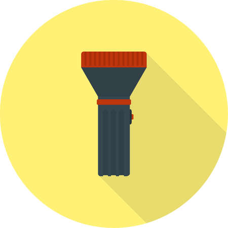 small lamp: Flashlight, light, object icon vector image. Can also be used for objects. Suitable for web apps, mobile apps and print media.
