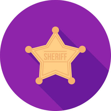 sheriffs: Sheriff, badge, star icon vector image. Can also be used for objects. Suitable for web apps, mobile apps and print media. Illustration