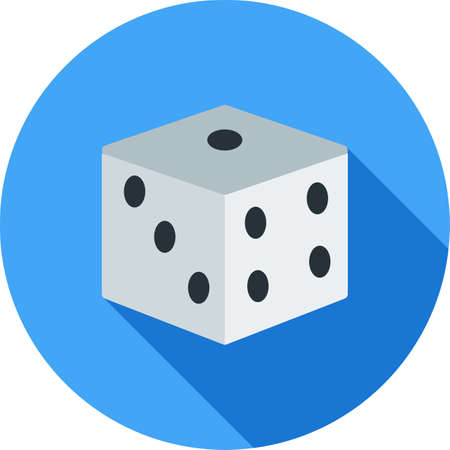 chances: Dice, casino, luck icon vector image. Can also be used for objects. Suitable for web apps, mobile apps and print media.