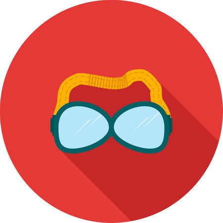safety goggles: Goggles, swimming, safety icon vector image. Can also be used for objects. Suitable for web apps, mobile apps and print media. Illustration
