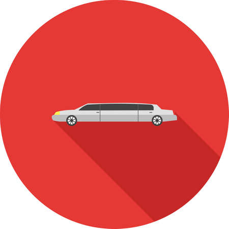 chauffeur: Limousine, car, long icon vector image. Can also be used for party. Suitable for web apps, mobile apps and print media.