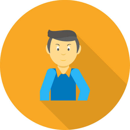 handsome male: Man, handsome, male icon vector image. Can also be used for party. Suitable for web apps, mobile apps and print media.