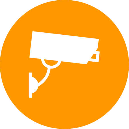 cctv security: Camera, cctv, security icon vector image. Can also be used for hotel and restaurant. Suitable for use on web apps, mobile apps and print media. Illustration