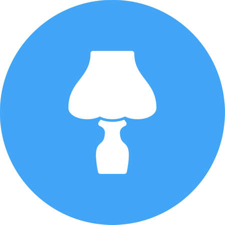 night table: Lamp, table, night icon vector image.Can also be used for hotel and restaurant. Suitable for mobile apps, web apps and print media.